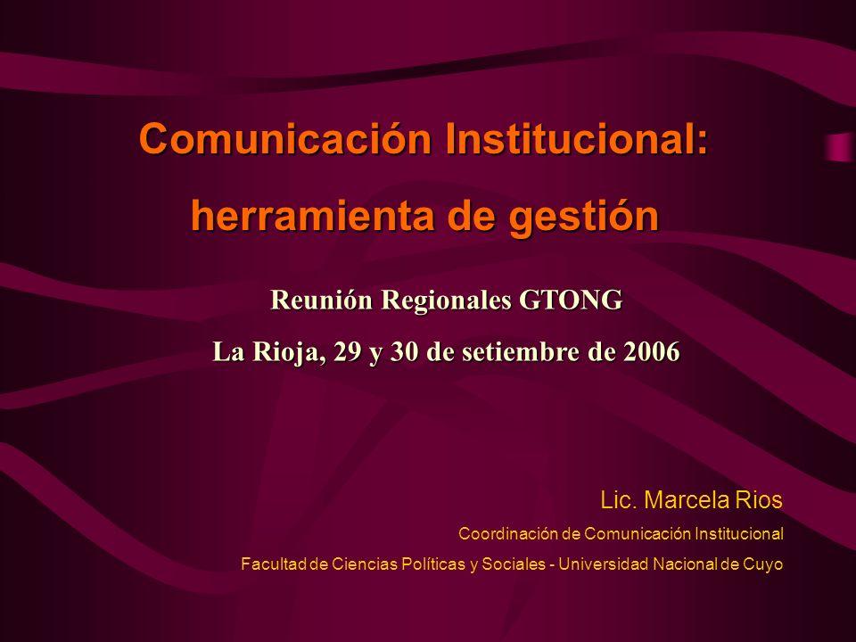 Comunicación Institucional: herramienta de gestión