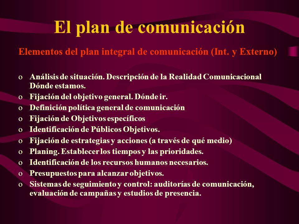 El plan de comunicación