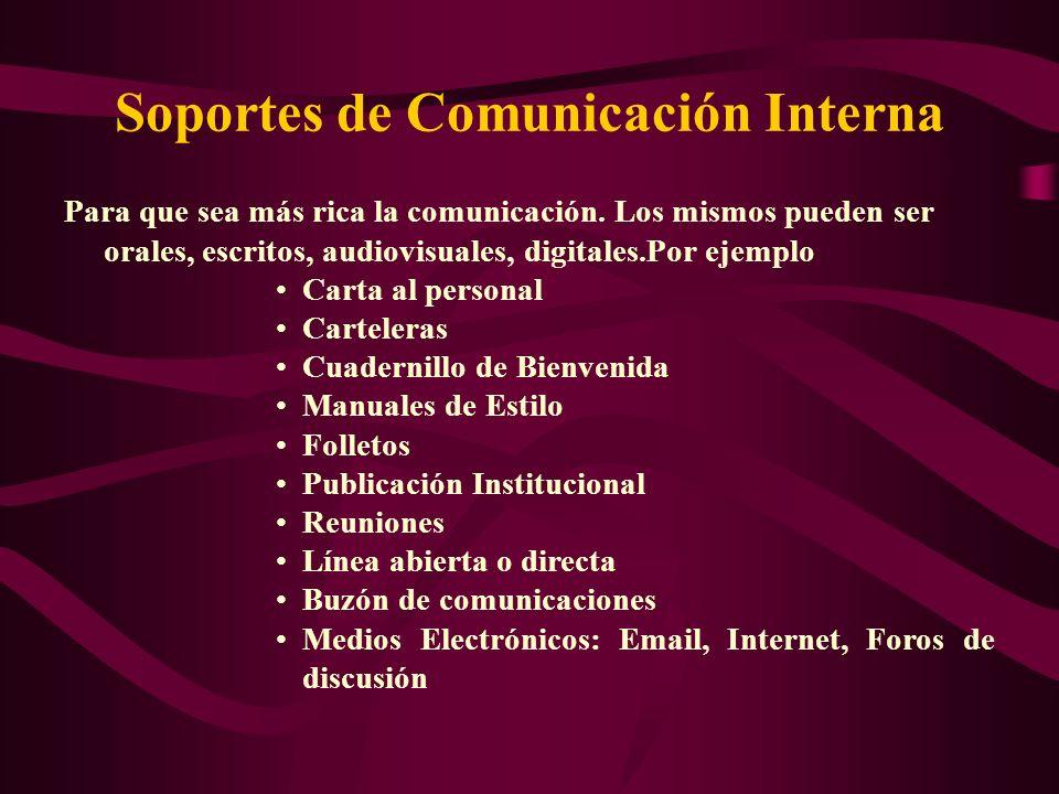 Soportes de Comunicación Interna