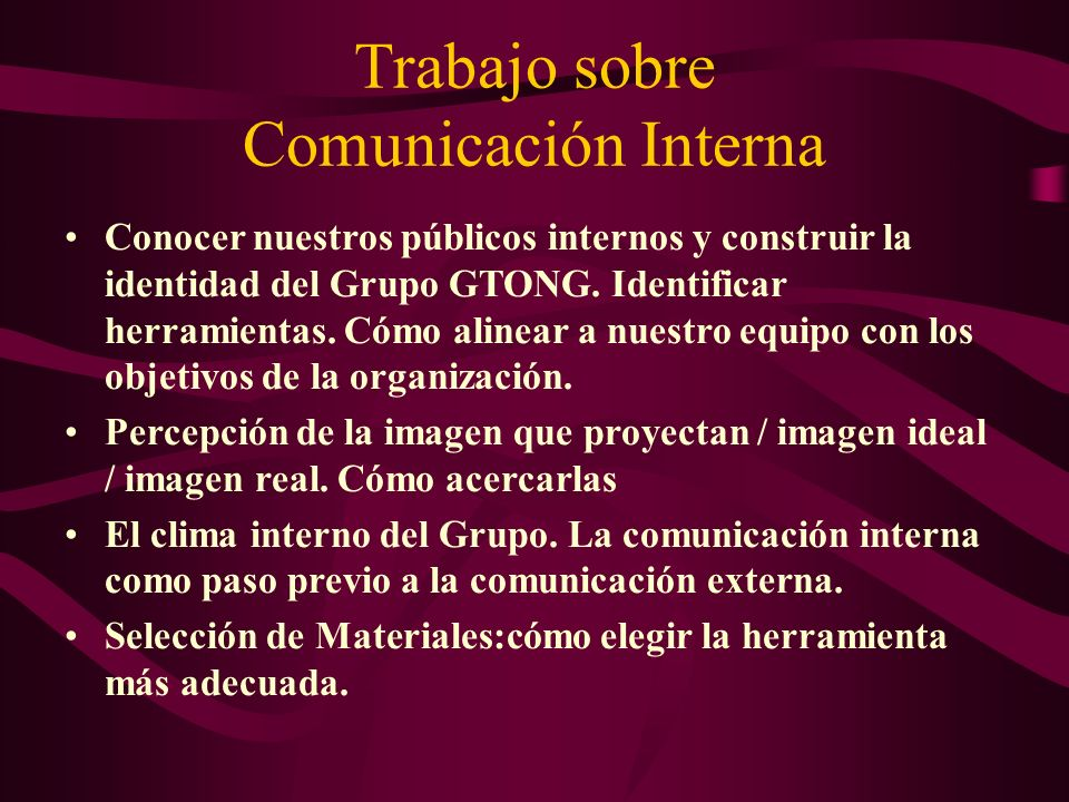 Trabajo sobre Comunicación Interna