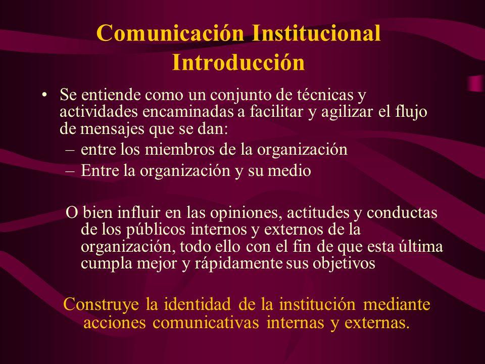 Comunicación Institucional Introducción