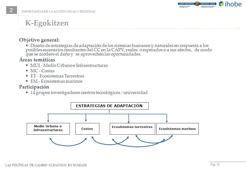 K-Egokitzen 2 Objetivo general: Áreas temáticas Participación