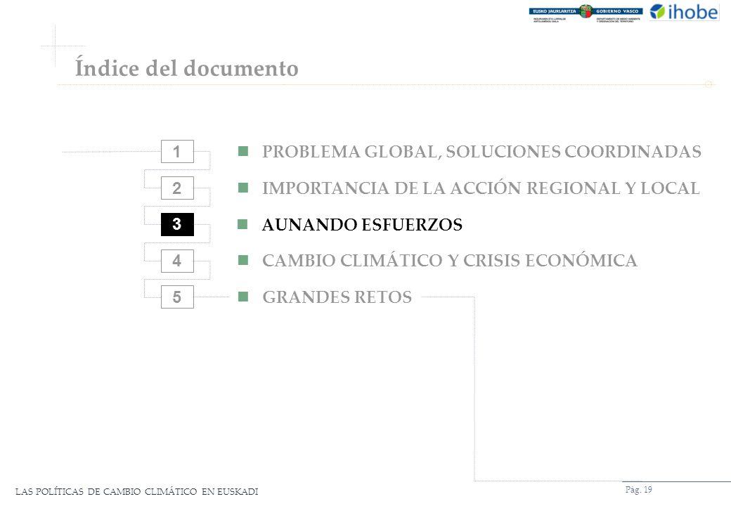 Índice del documento 1 PROBLEMA GLOBAL, SOLUCIONES COORDINADAS 2