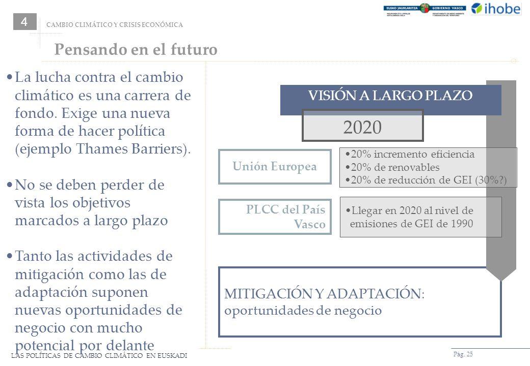 4CAMBIO CLIMÁTICO Y CRISIS ECONÓMICA. Pensando en el futuro.