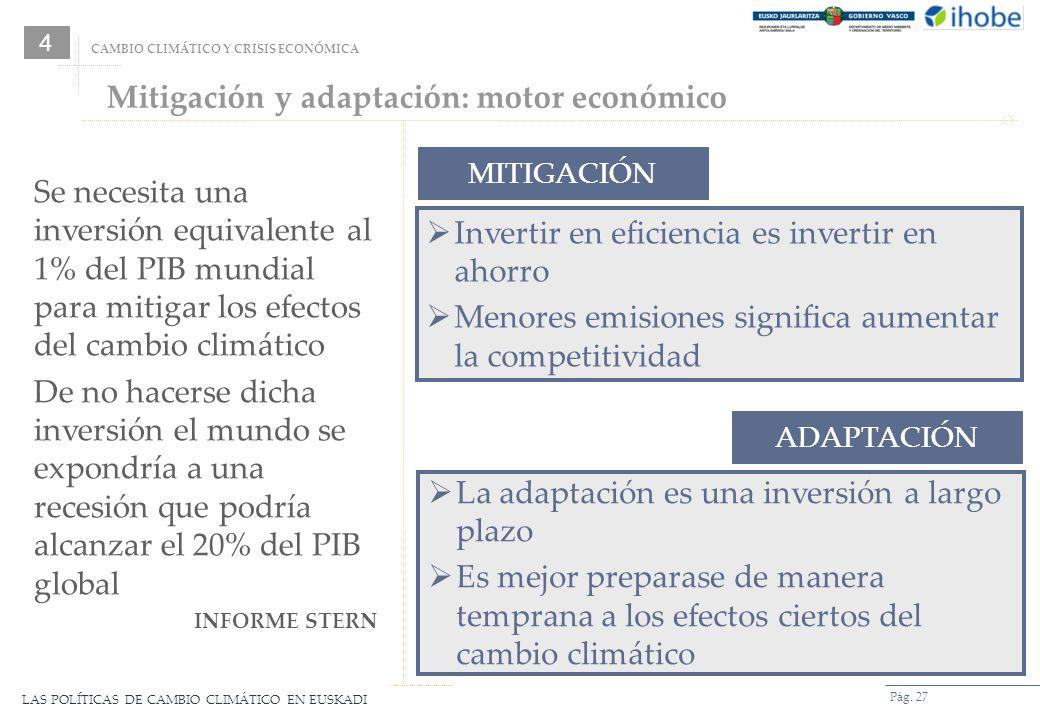 Mitigación y adaptación: motor económico