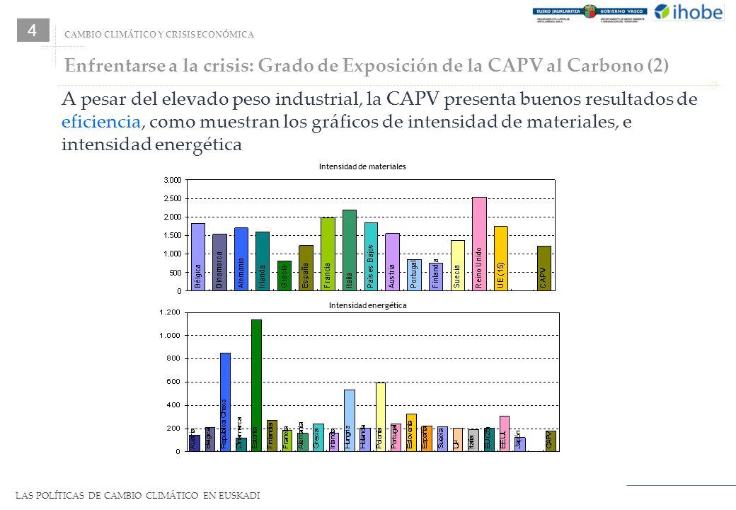 Enfrentarse a la crisis: Grado de Exposición de la CAPV al Carbono (2)