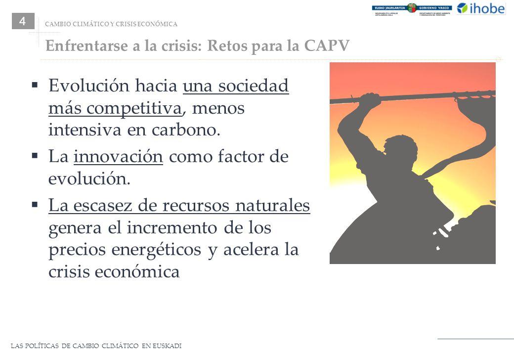Enfrentarse a la crisis: Retos para la CAPV