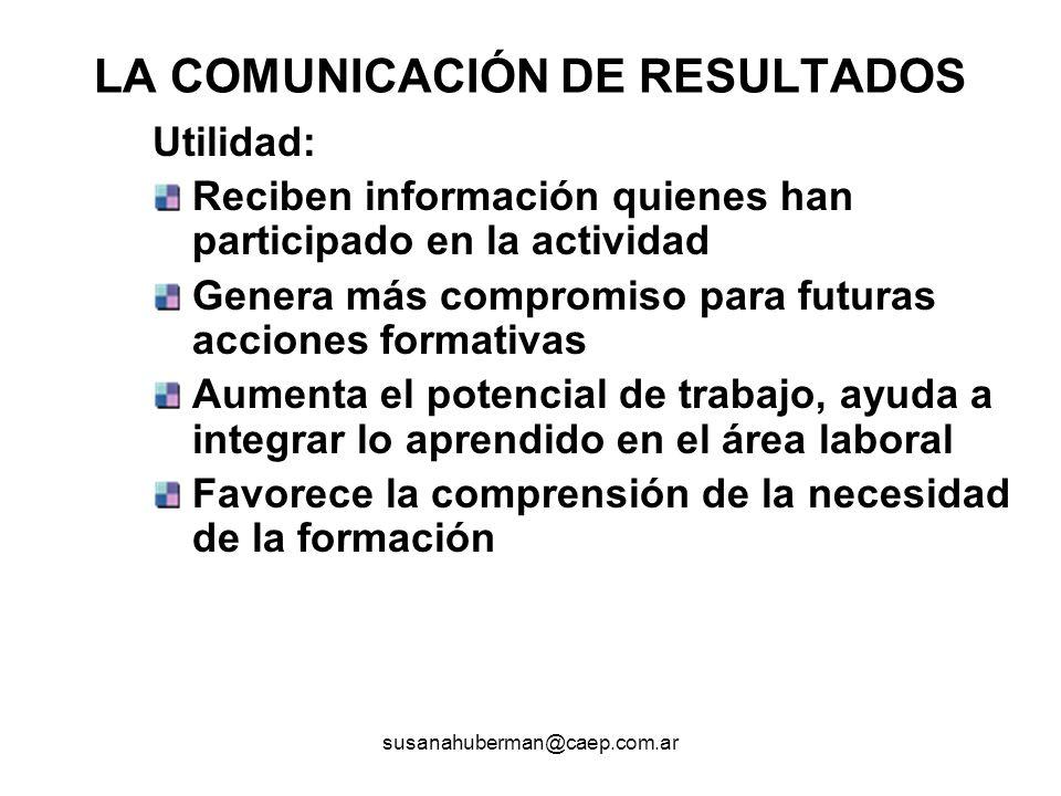 LA COMUNICACIÓN DE RESULTADOS