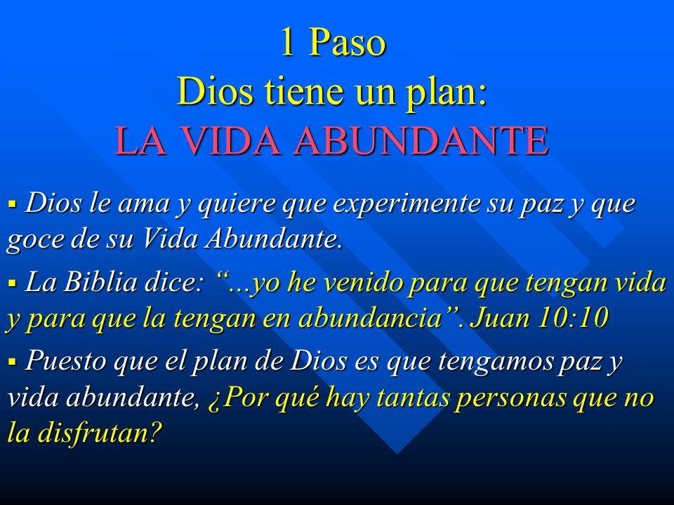 1 Paso Dios tiene un plan: LA VIDA ABUNDANTE