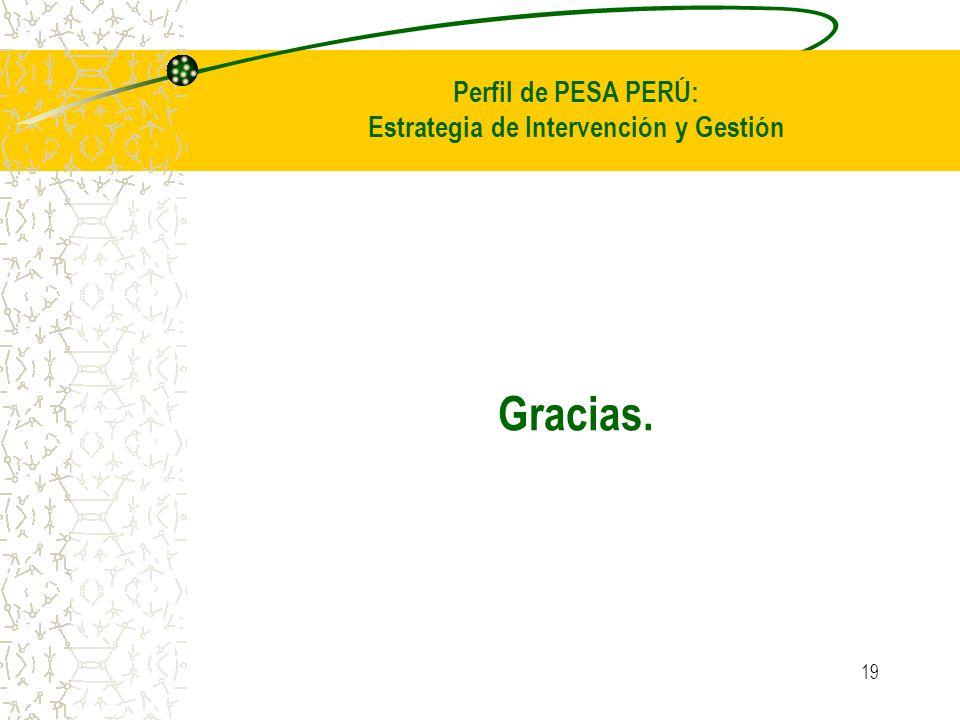 Perfil de PESA PERÚ: Estrategia de Intervención y Gestión