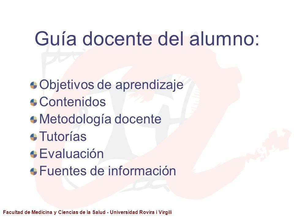 Guía docente del alumno: