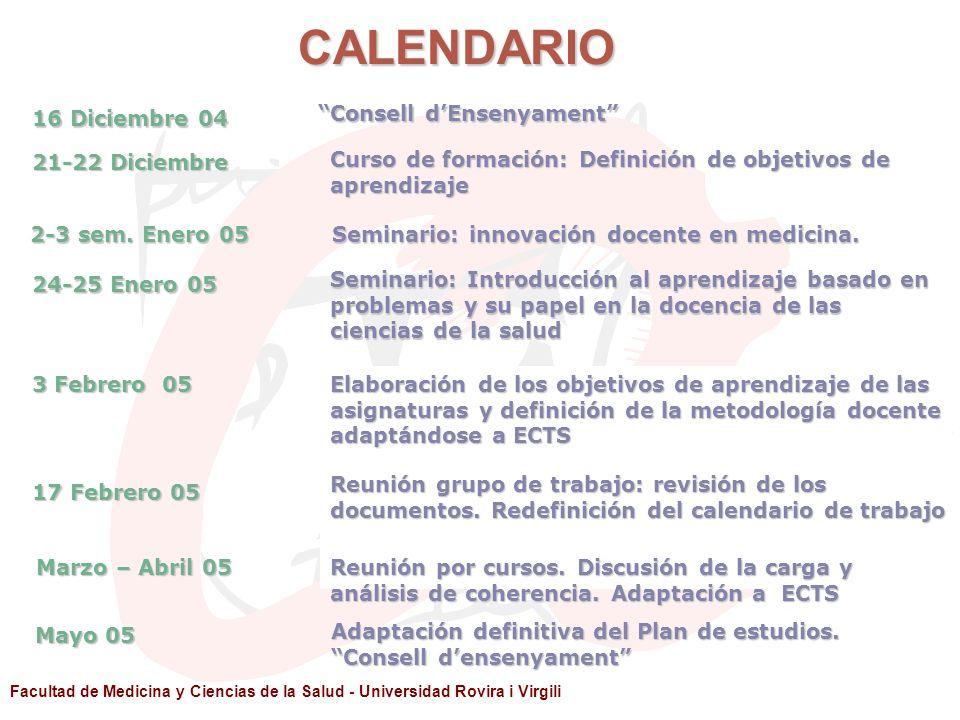 Consell d'Ensenyament Seminario: innovación docente en medicina.