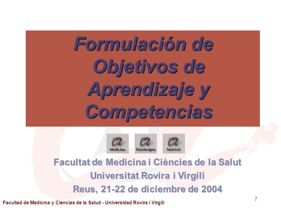 Formulación de Objetivos de Aprendizaje y Competencias