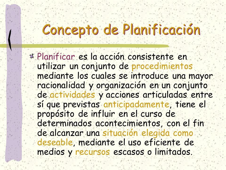 Concepto de Planificación