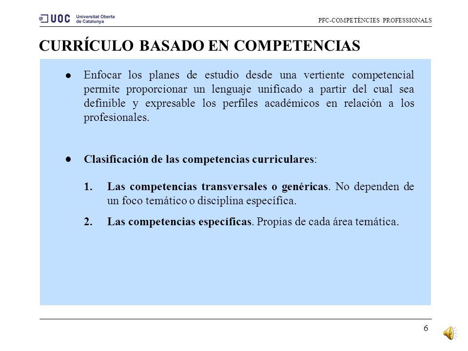 CURRÍCULO BASADO EN COMPETENCIAS