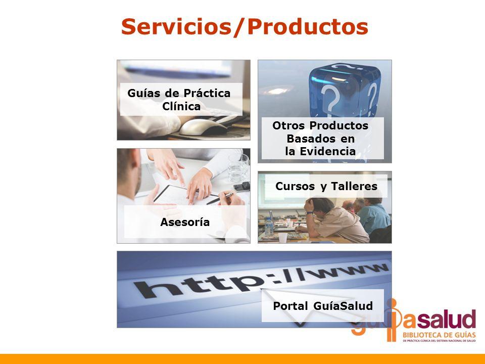 Servicios/Productos Guías de Práctica Clínica Otros Productos