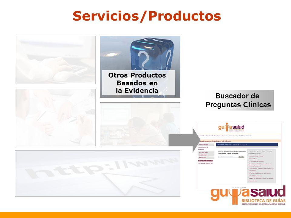 Servicios/Productos Buscador de Preguntas Clínicas Otros Productos