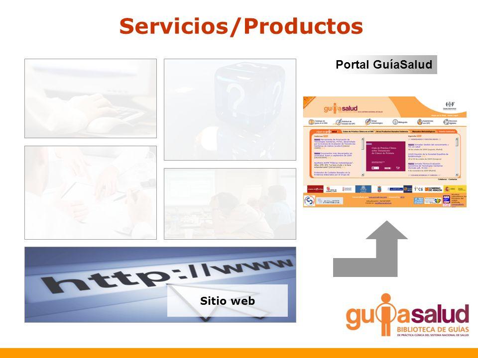 Servicios/Productos Portal GuíaSalud Sitio web
