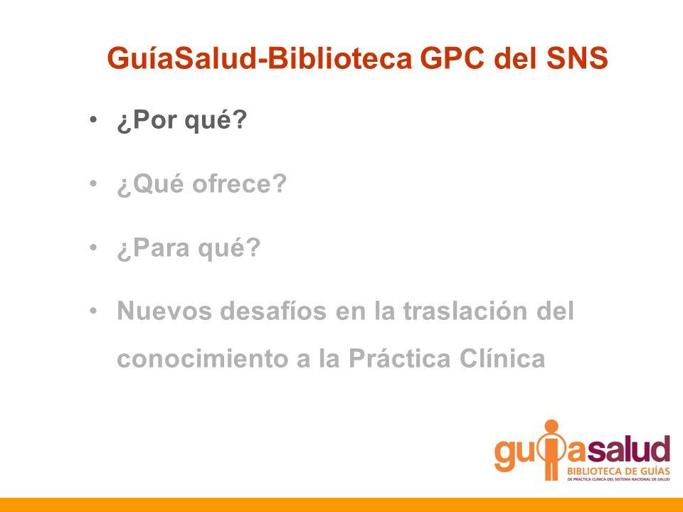 GuíaSalud-Biblioteca GPC del SNS