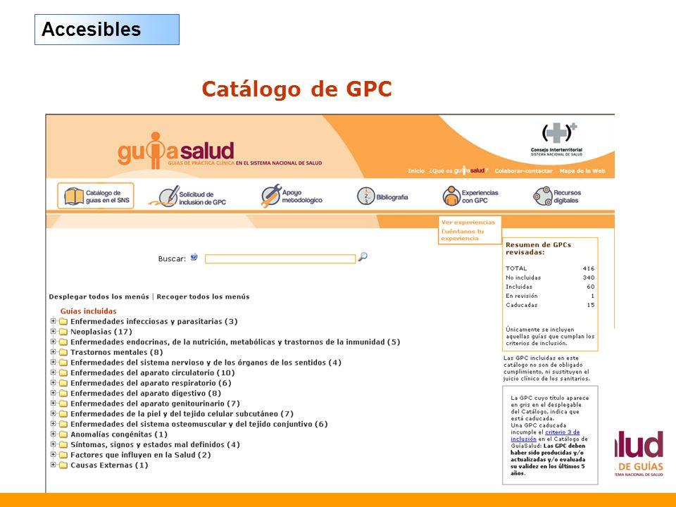 Accesibles Catálogo de GPC 34