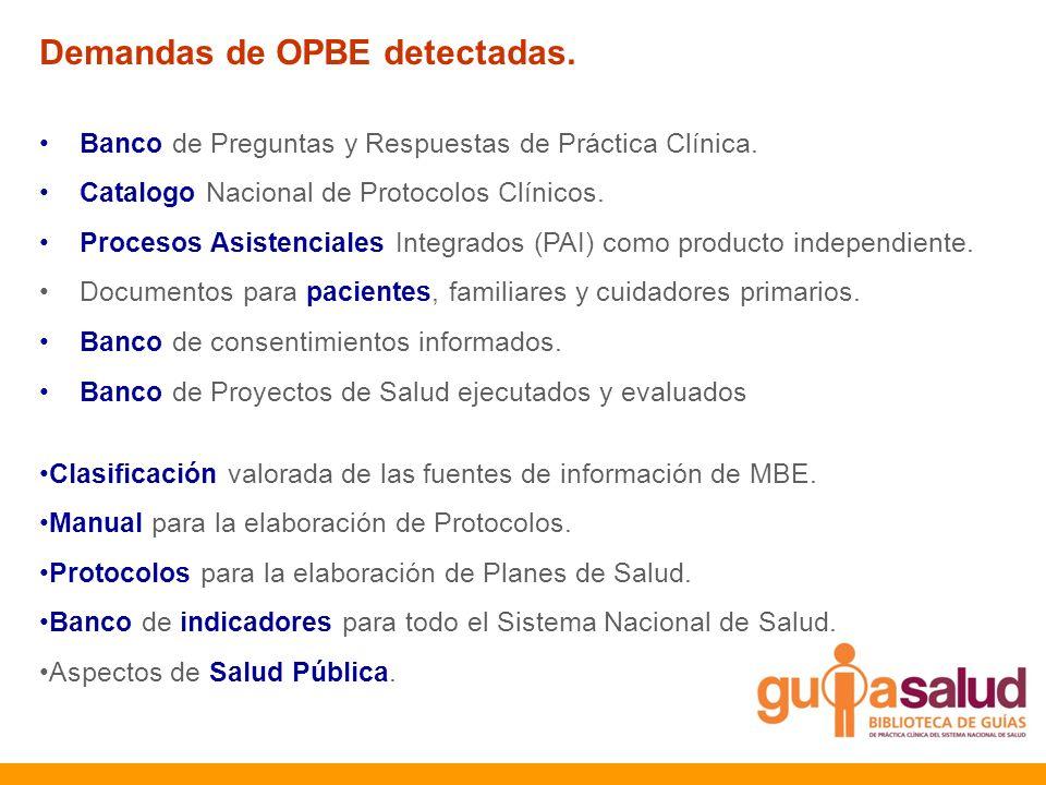 Demandas de OPBE detectadas.