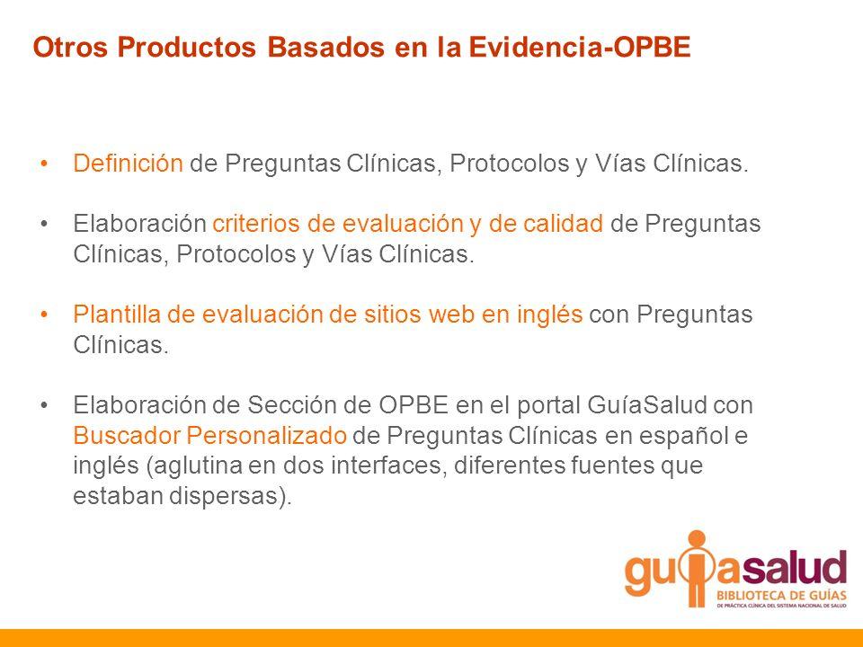 Otros Productos Basados en la Evidencia-OPBE
