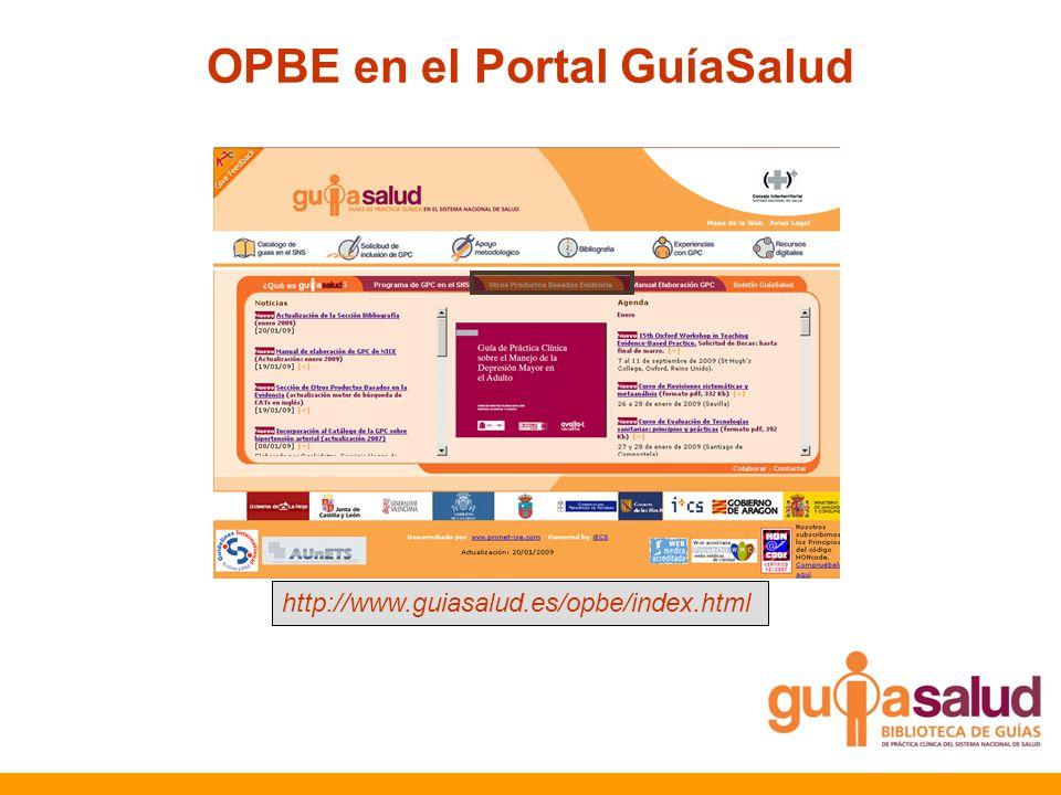 OPBE en el Portal GuíaSalud