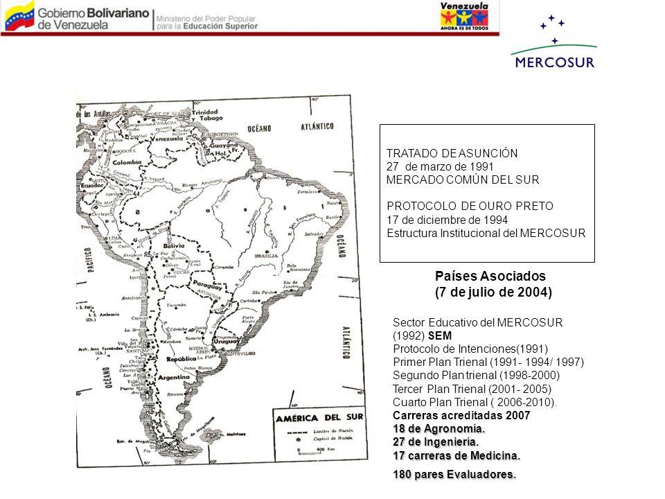 Países Asociados (7 de julio de 2004) TRATADO DE ASUNCIÓN