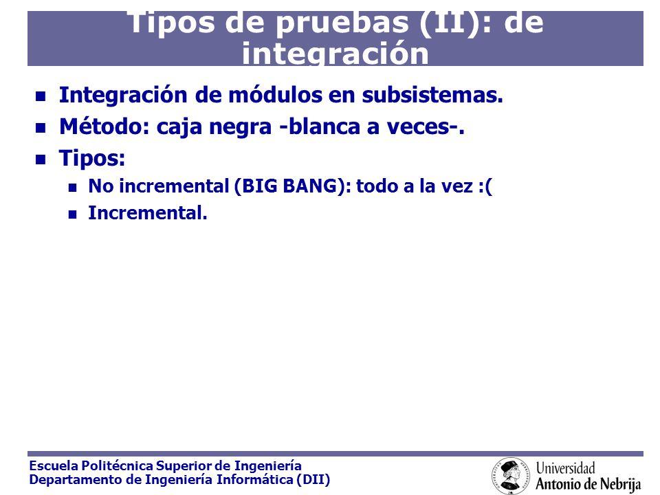 Tipos de pruebas (II): de integración
