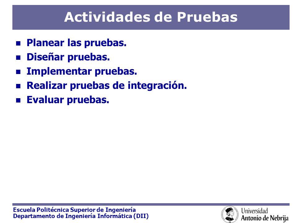 Actividades de Pruebas