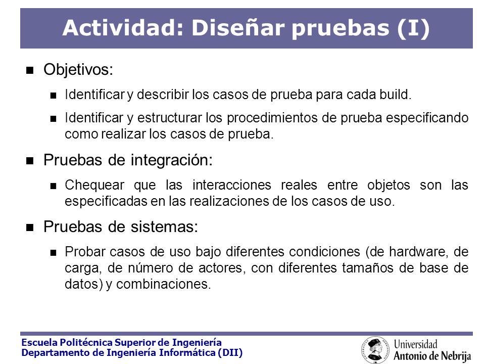 Actividad: Diseñar pruebas (I)