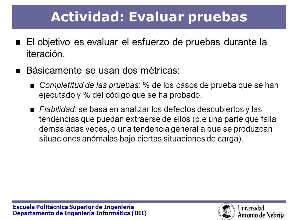 Actividad: Evaluar pruebas