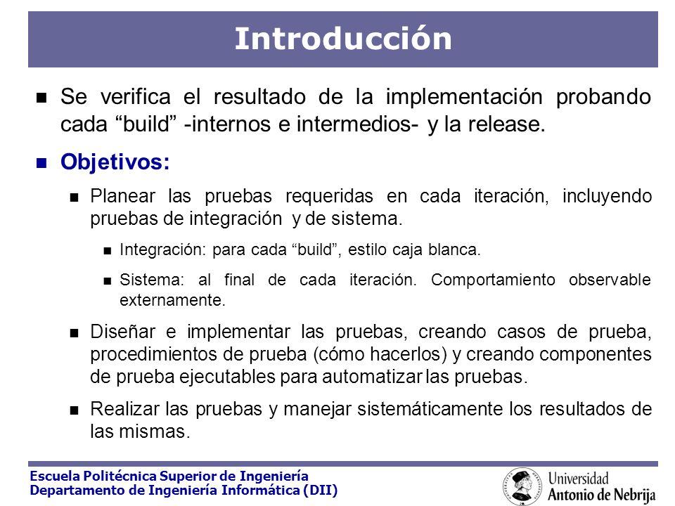 Introducción Se verifica el resultado de la implementación probando cada build -internos e intermedios- y la release.