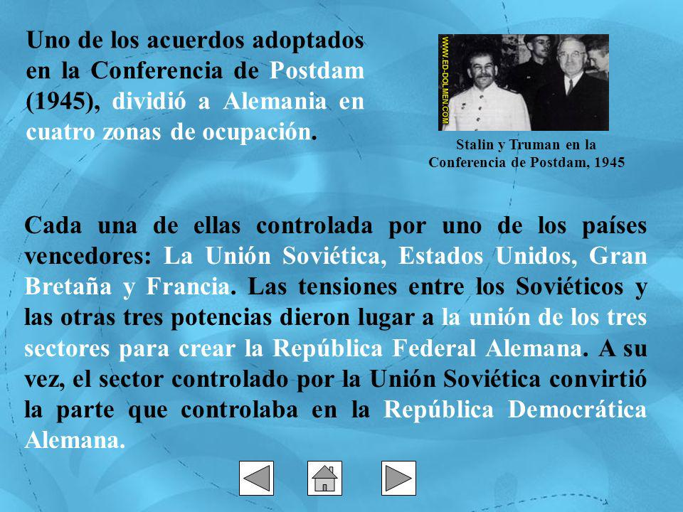 Stalin y Truman en la Conferencia de Postdam, 1945