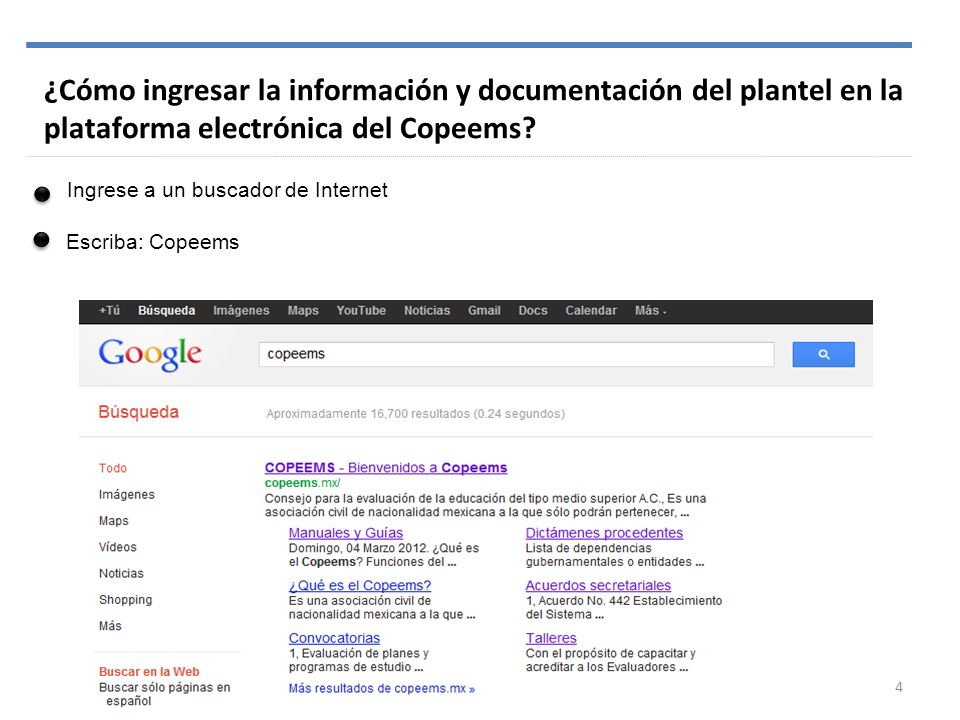 ¿Cómo ingresar la información y documentación del plantel en la plataforma electrónica del Copeems
