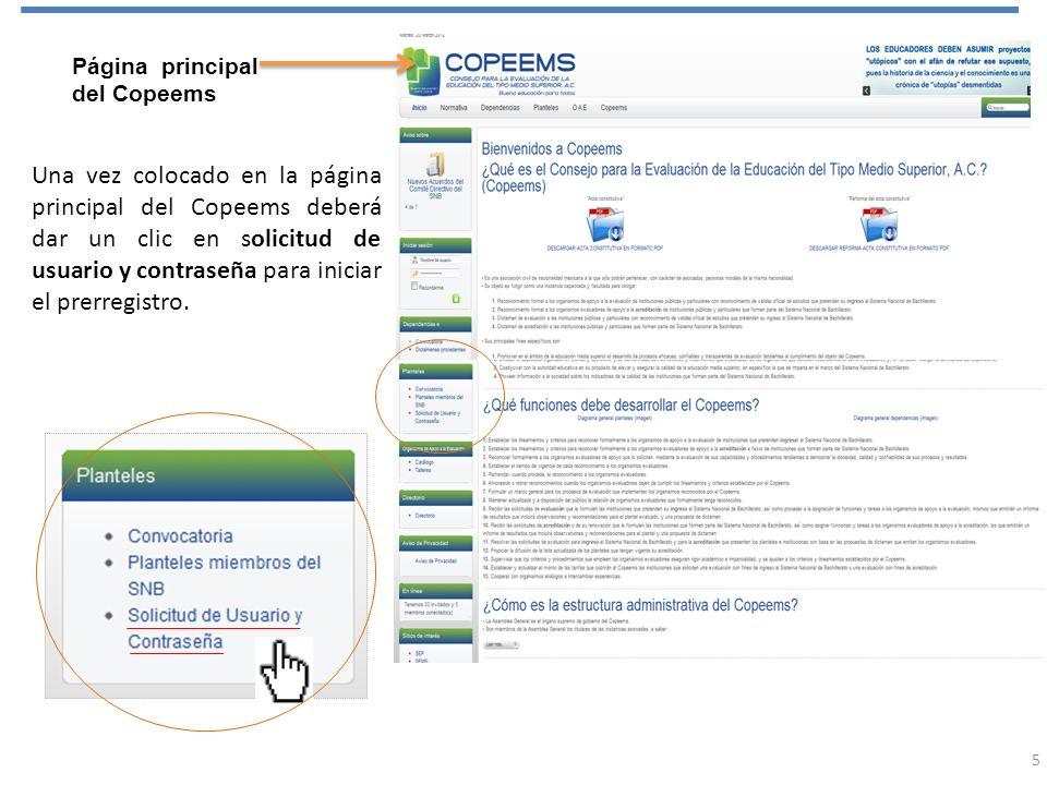 Página principal del Copeems