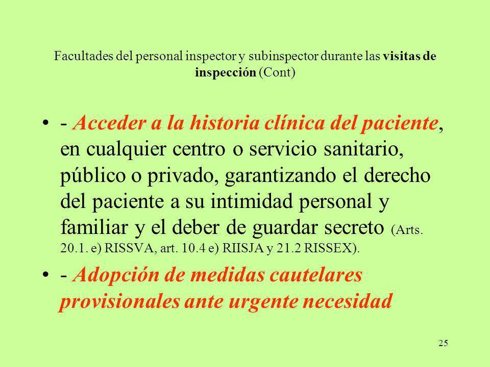 - Adopción de medidas cautelares provisionales ante urgente necesidad