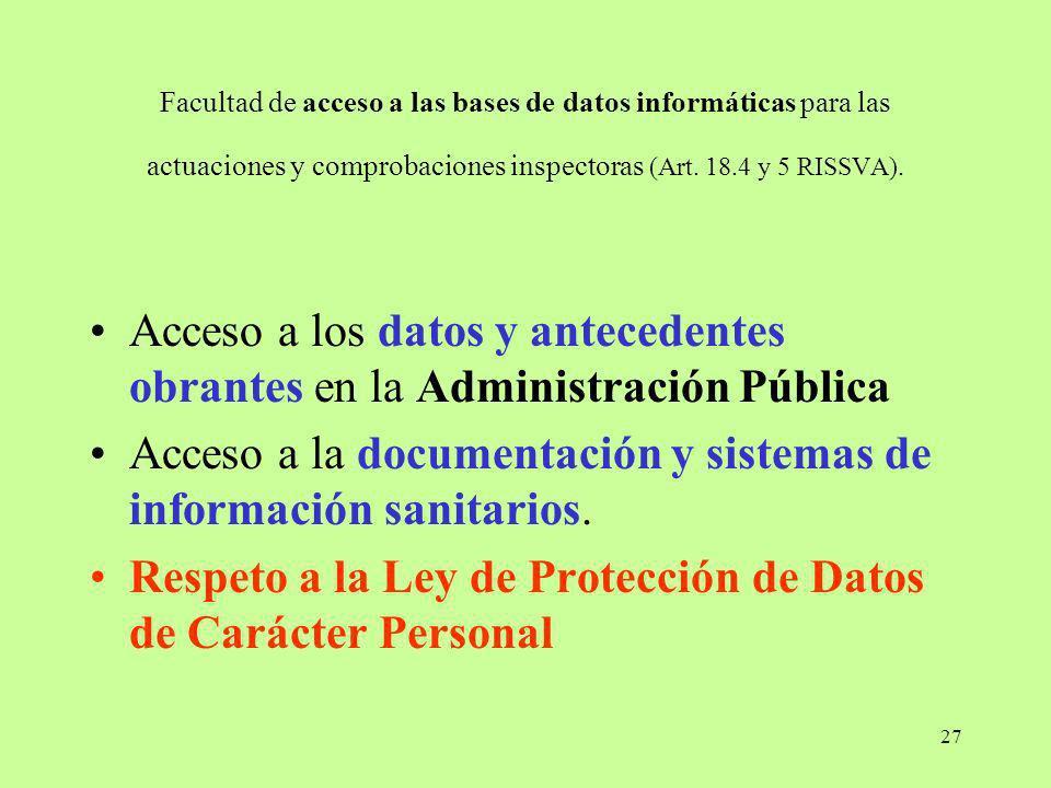 Acceso a la documentación y sistemas de información sanitarios.