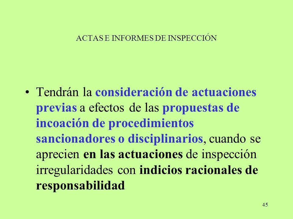 ACTAS E INFORMES DE INSPECCIÓN