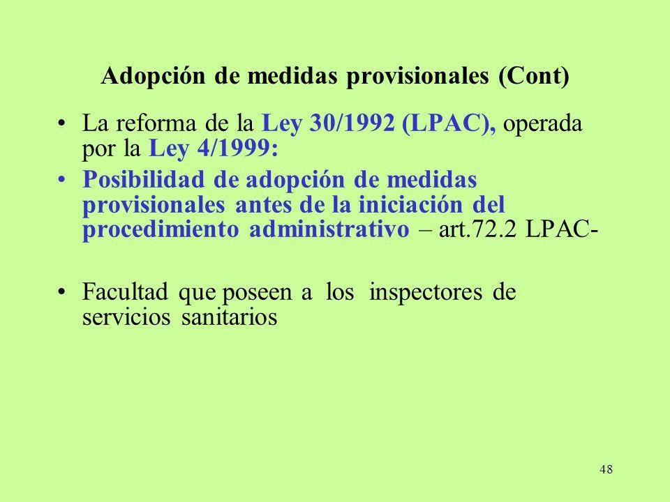 Adopción de medidas provisionales (Cont)