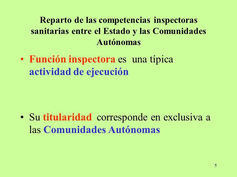 Función inspectora es una típica actividad de ejecución