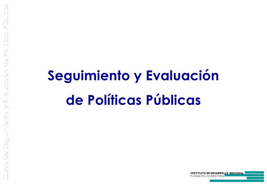 Seguimiento y Evaluación de Políticas Públicas