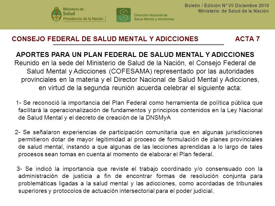CONSEJO FEDERAL DE SALUD MENTAL Y ADICCIONES ACTA 7