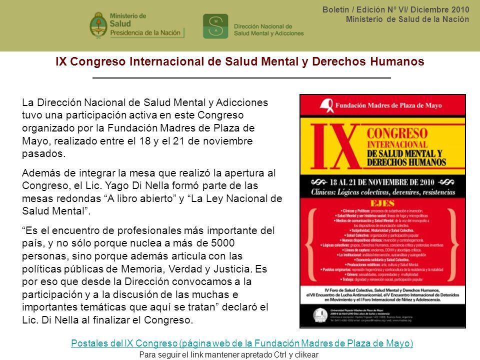 IX Congreso Internacional de Salud Mental y Derechos Humanos