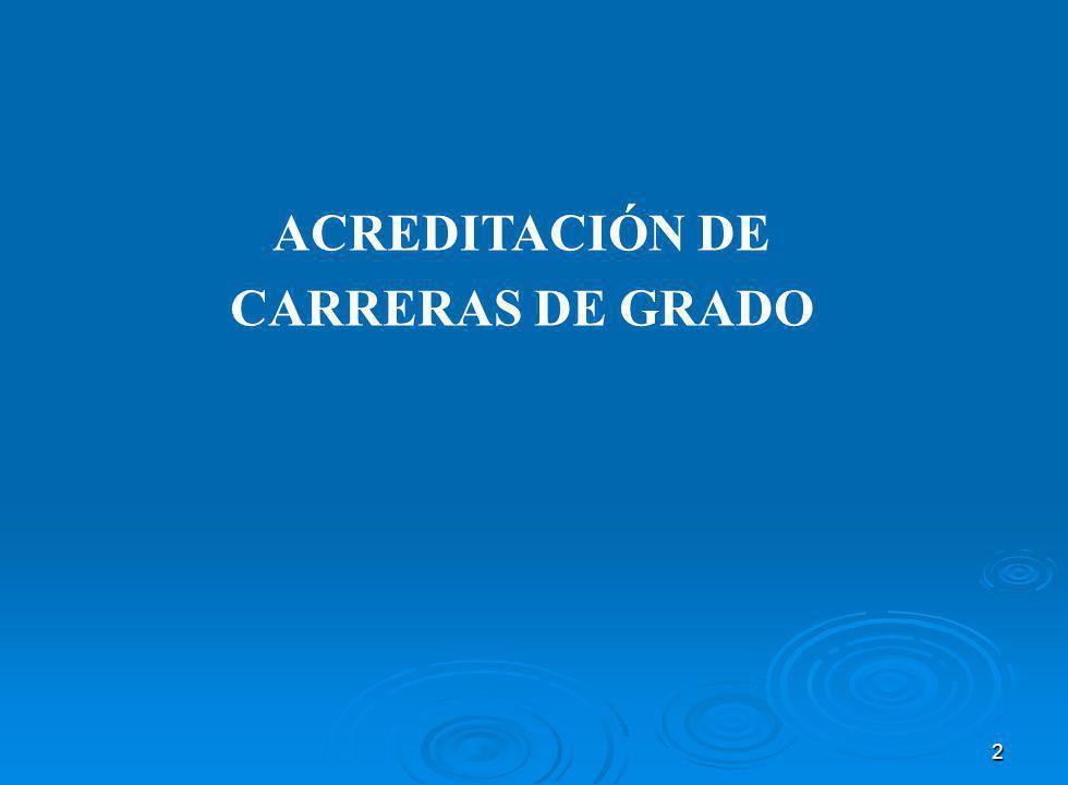 ACREDITACIÓN DE CARRERAS DE GRADO