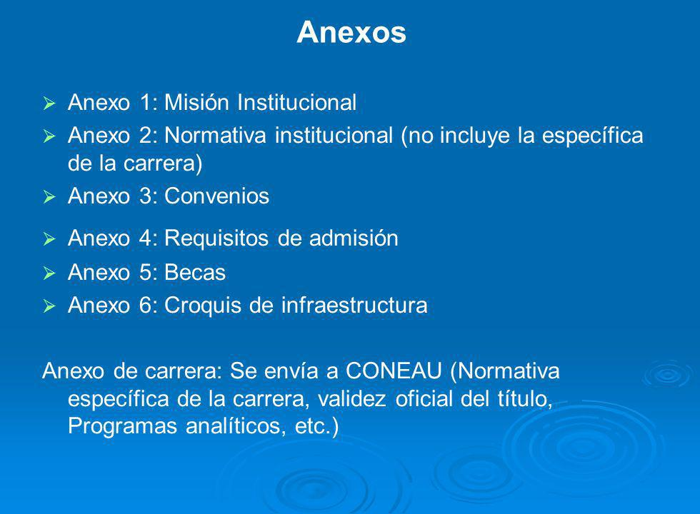 Anexos Anexo 1: Misión Institucional