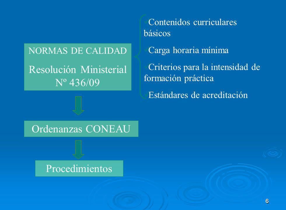 Resolución Ministerial Nº 436/09