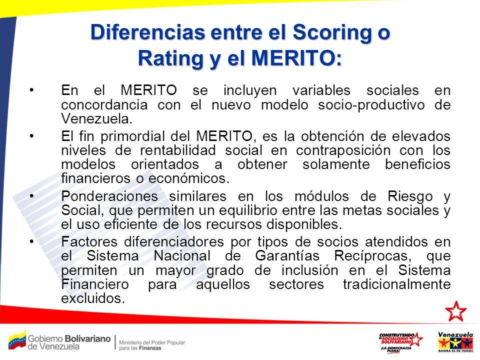 Diferencias entre el Scoring o Rating y el MERITO: