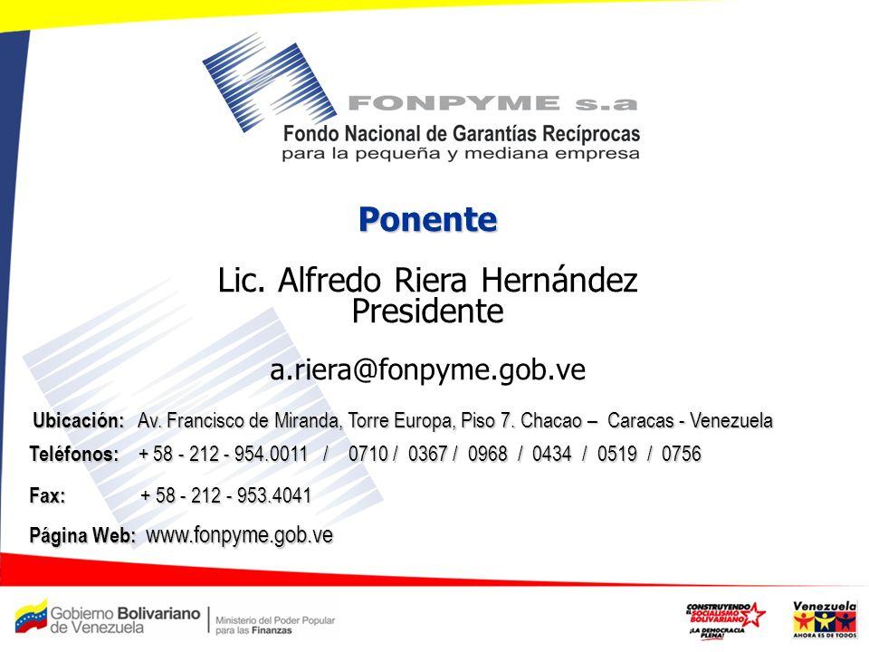 Lic. Alfredo Riera Hernández