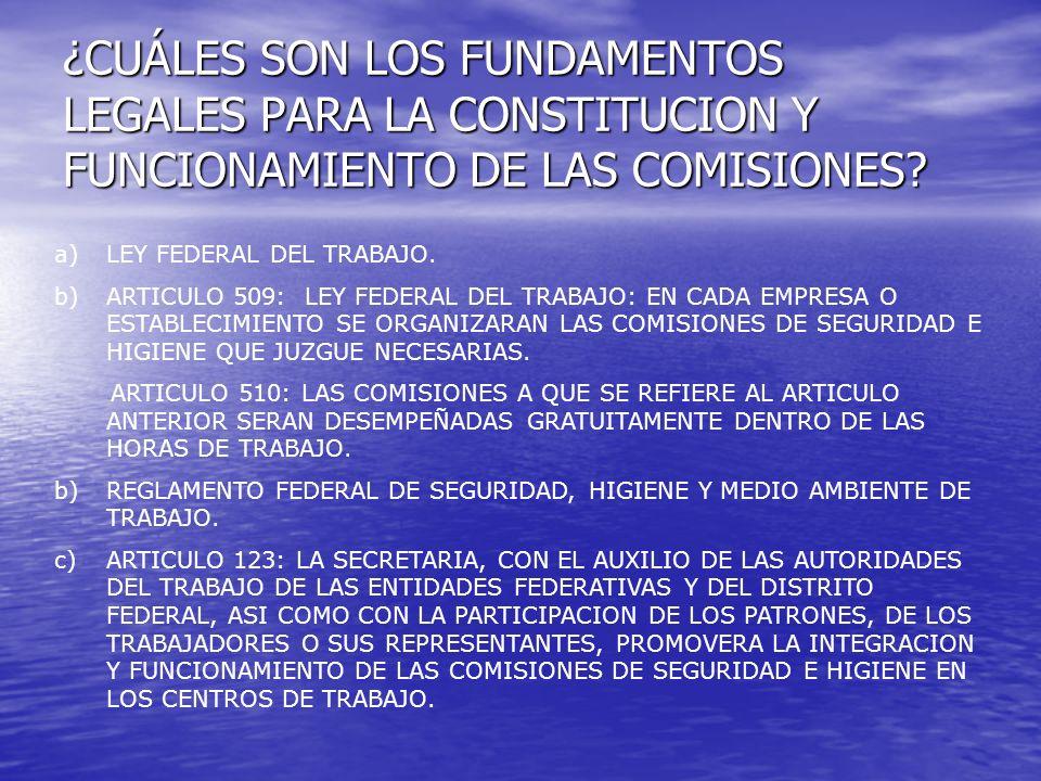 ¿CUÁLES SON LOS FUNDAMENTOS LEGALES PARA LA CONSTITUCION Y FUNCIONAMIENTO DE LAS COMISIONES